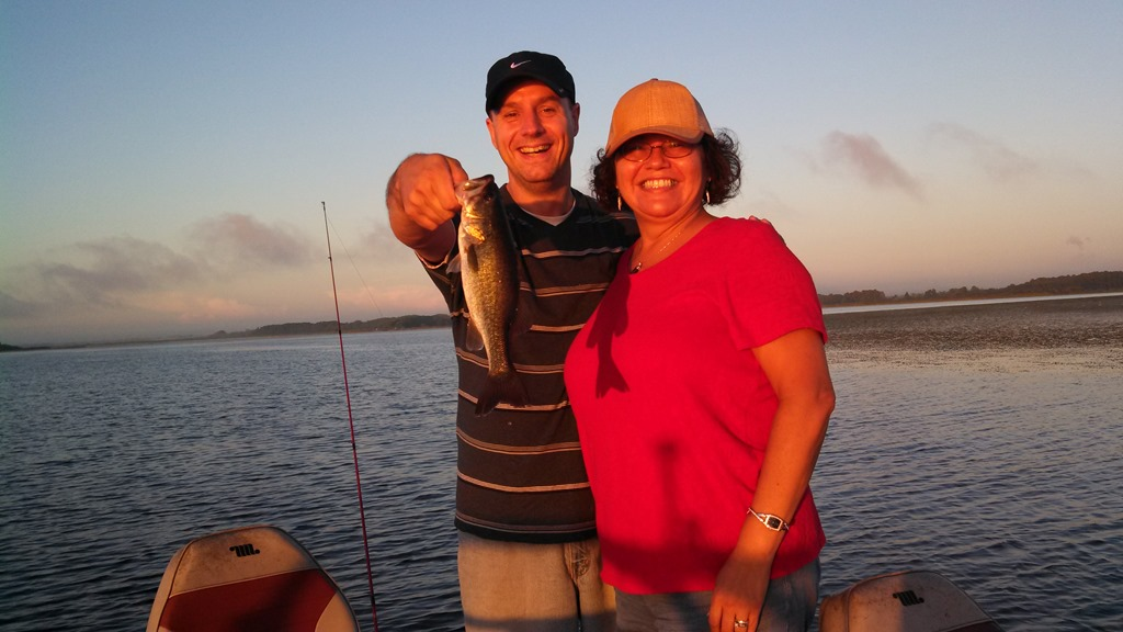 Sean and Susan on Lake Toho